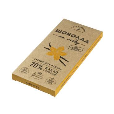 Шоколад На Меду горький 70% какао С Натуральной Ванилью 85г