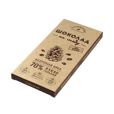 Шоколад На Меду горький 70% какао С Кедровым Орехом 85г