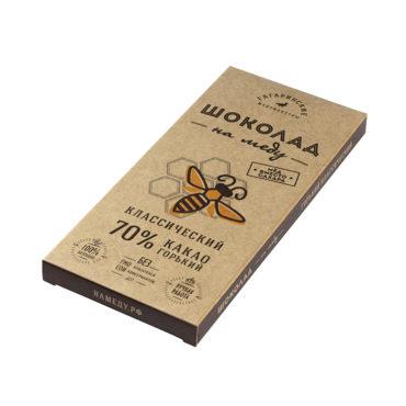 Шоколад На Меду горький 70% какао Классический 85г