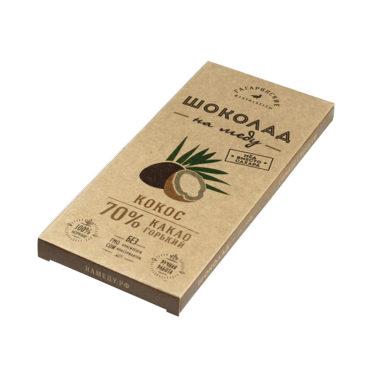 Шоколад На Меду горький 70% какао С Кокосом 45г