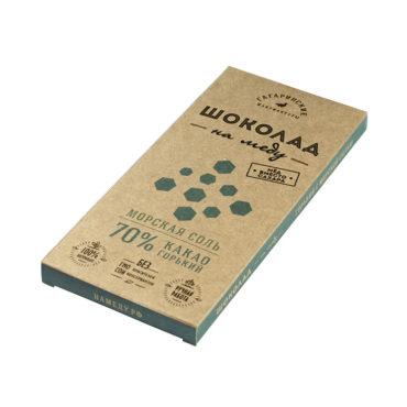 Шоколад На Меду горький 70% какао С Морской Солью 85г