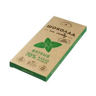Шоколад На Меду горький 70% какао Мятный 85г