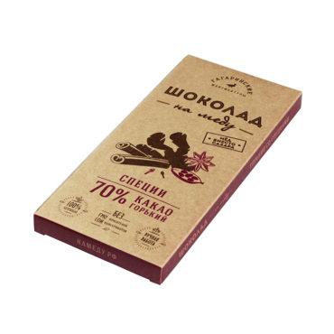 Шоколад На Меду горький 70% какао Со Специями 85г